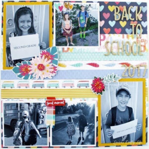 Create Your Favorite School Moments scrapbook