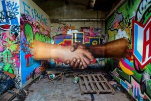 Explore the paths of colourful street art
